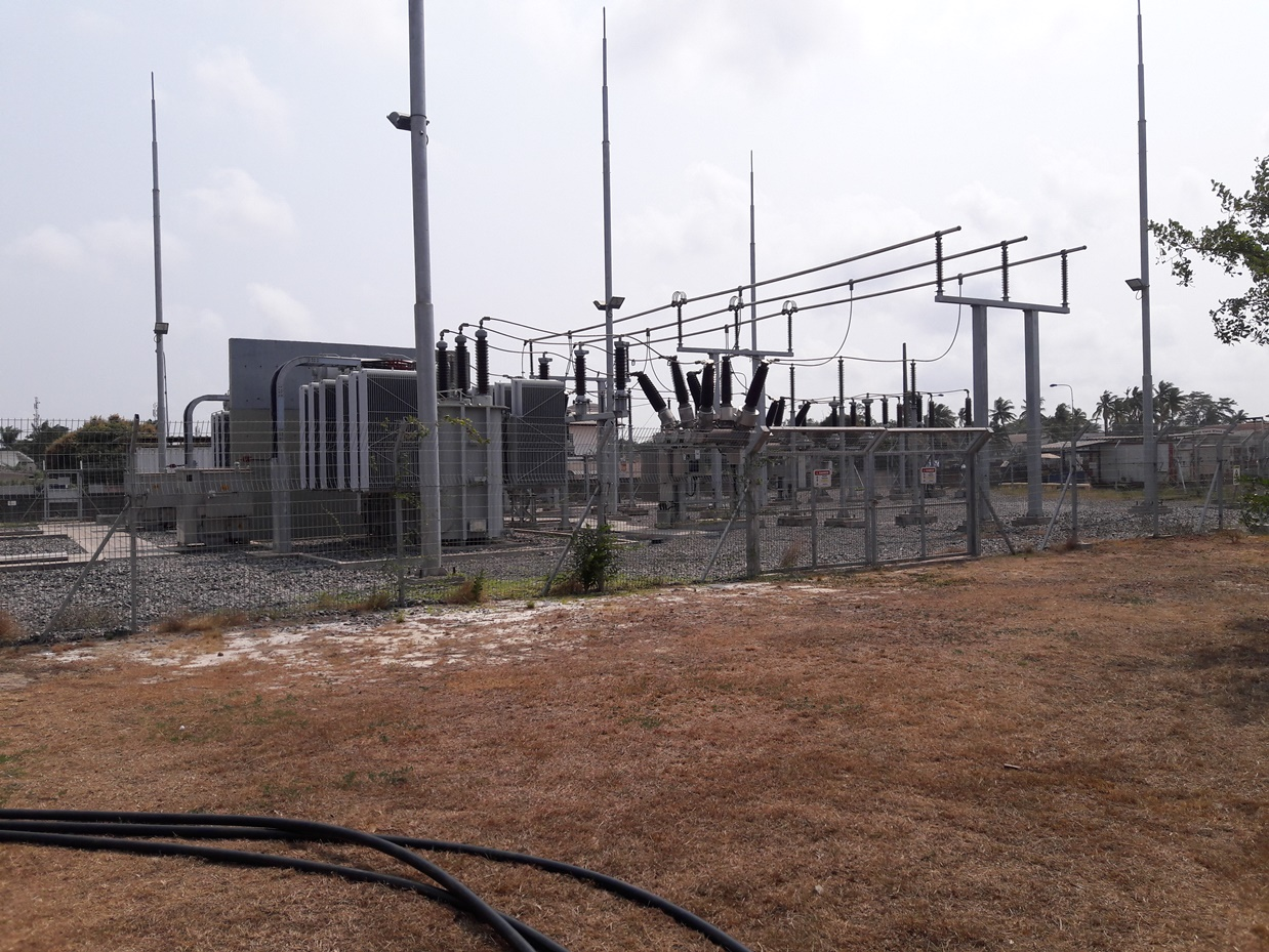 Electrical works, substation 90 kV Port Gentil, Gabon